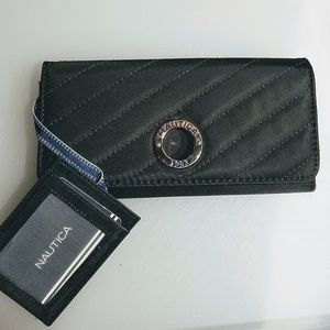New black Nautica wallet with RFID Protection